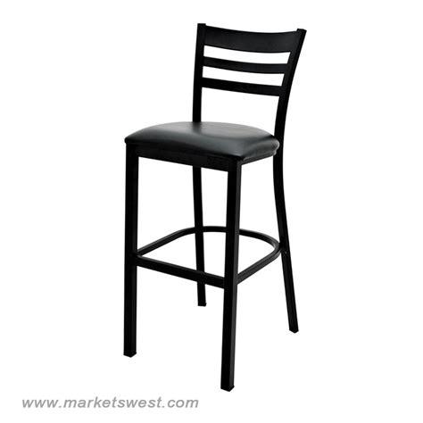 Black Back Bar Stools by Black Ladder Back Bar Stool