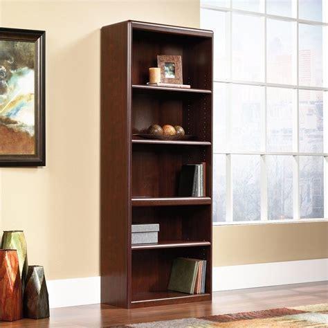 Cornerstone Library Bookcase In Classic Cherry 107395 Sauder Cherry Bookcase