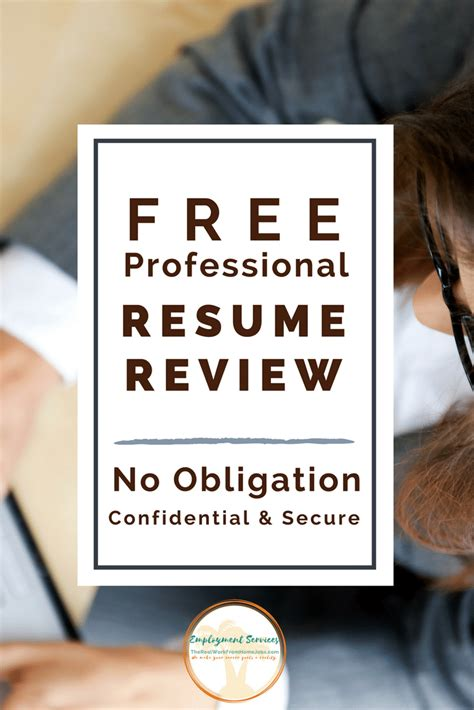 Free Resume Review by Free Resume Review Therealworkfromhomejobs
