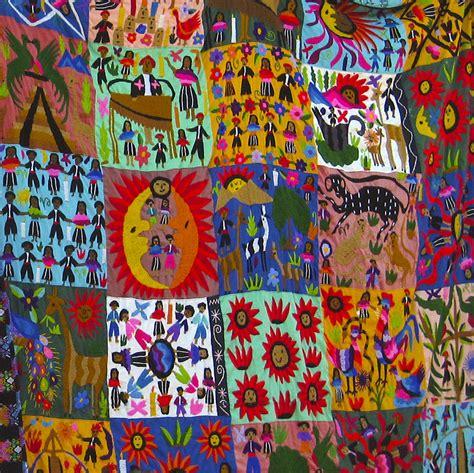 Duvet And Quilt Guatemala Folk Art Quilt Photograph By Kurt Van Wagner