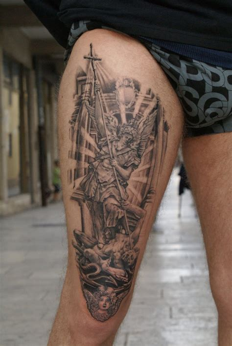st michael tattoo st michael by inkstruktor on deviantart