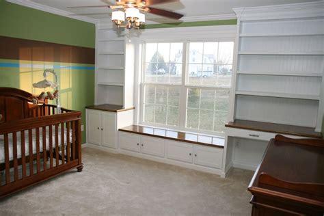 window seat and bookshelves nursery window seat bookshelves and desk by jasonwagner lumberjocks woodworking