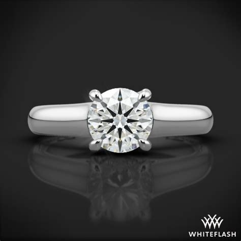 Classic Halo Ring 1197 x prong trellis solitaire engagement ring 1197