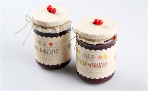 Handmade Jam - 25 sweet jam jar labels packaging design ideas