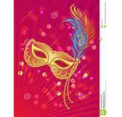 Calibre Daffiche De Carnaval Avec Le Masque Sur Fond