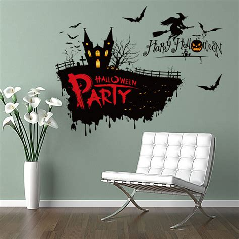 Wall Sticker Removable 3d Horror Ghost Series 4 vinyl removable 3d wall sticker horror witch