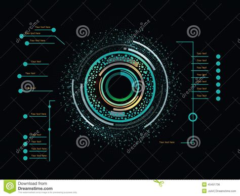 futuristic colors color infographics as up display stock vector