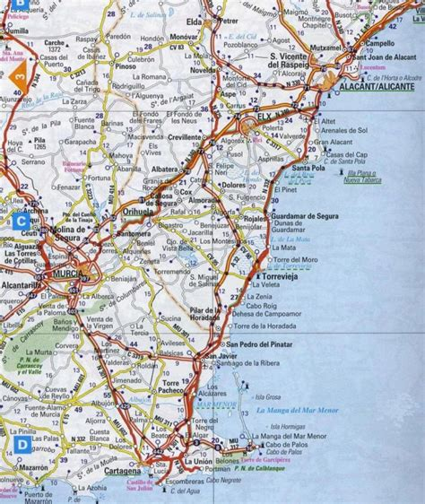 map of alicante area maps for torrevieja and map of torrevieja