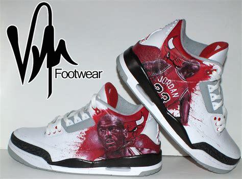 air iii mj portrait custom by vm footwear