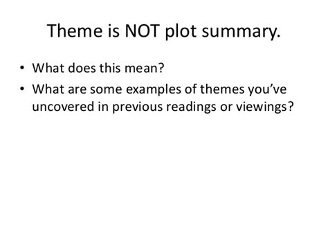 what does theme mean in a story short story literary terms power point