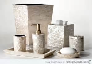 accessories set capiz this elegant bathroom accessory is made from rare shells known as