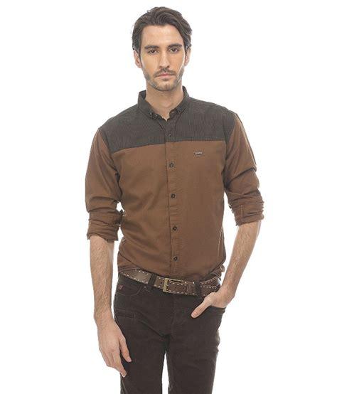 Brown Basic Shirt basics brown casuals shirt buy basics brown casuals