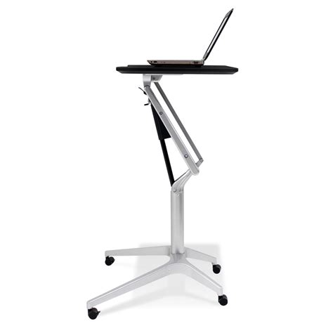 small desk on wheels furniture stylish small adjustable height standing laptop