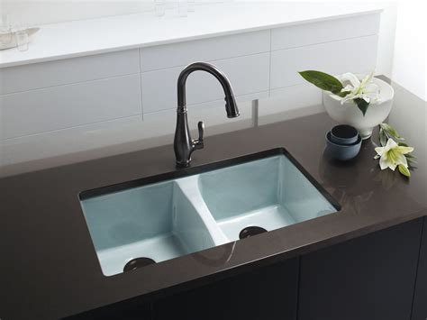 undermount kitchen sink with faucet holes standard plumbing supply product kohler k 5873 5u 33