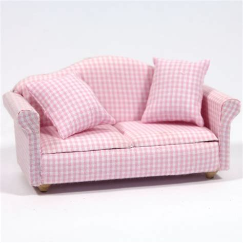 Modern Pink Gingham Pattern Sofa Furniture Df1162 From