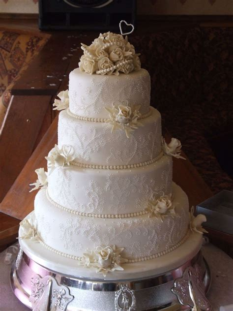 Wedding Tier Cake by 4 Tier Wedding Cake Cakecentral