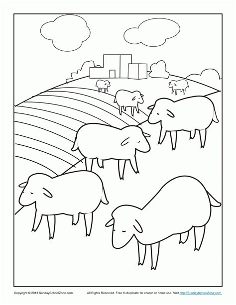free coloring page lost sheep coloring pages of the lost sheep coloring home