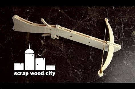 diy plywood crossbow youtube wood work pinterest
