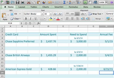 Credit Card Tracking Spreadsheet by Keeping Track Of Your Credit Cards Flymiler