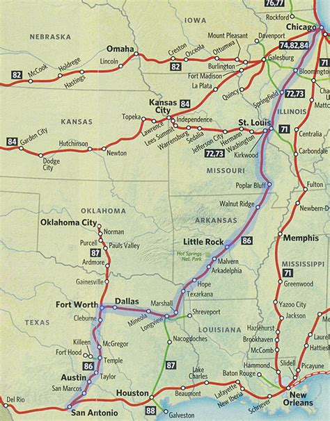amtrak texas eagle route map amtrak route map images