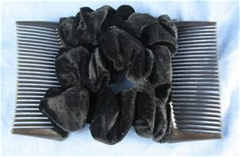 updo with elastic combs black velvet fabric material double elastic stretch hair