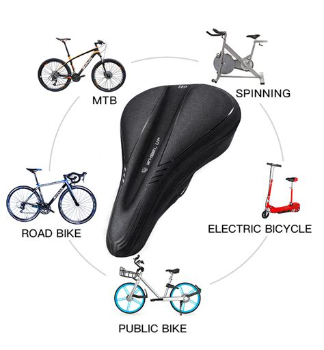 Silicone Bike Saddle Cover wheel up silicone cycling bike saddle cover breathable mtb
