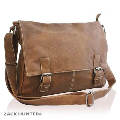 leather satchel mens mens womens real leather satchel messenger bag shoulder laptop bag handbag ft ebay