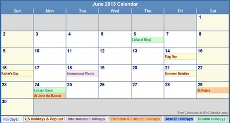 2013 Calendar With Holidays Printable Calendars With Holidays Included Html Autos Post