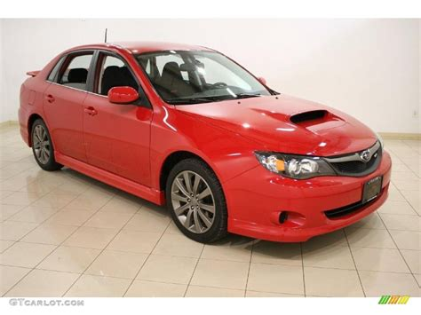 red subaru sedan 2010 lightning red subaru impreza wrx sedan 46697984