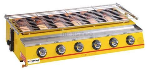 Pemanggang Sosis 2 Tungku jual mesin pemanggang sate bbq 6 tungku gas di
