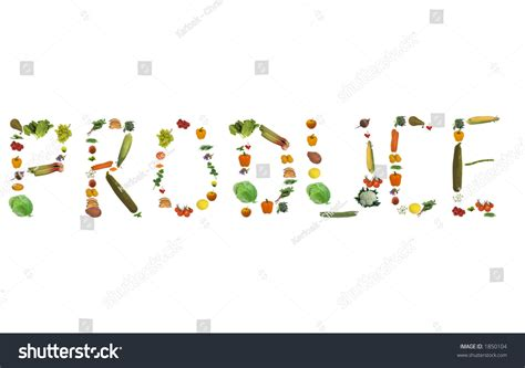 Did Spelling A Out by Fruit Vegetable Vegetables And Herbs All Isolated