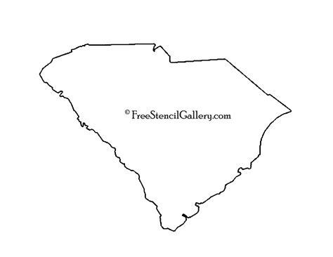 South Carolina Map Outline by South Carolina Stencil Free Stencil Gallery