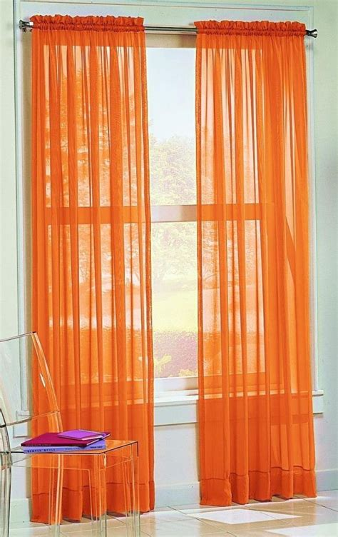 orange curtain panels buy best orange curtains ease bedding with style