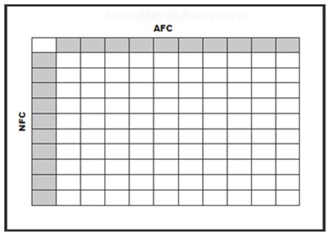 printable bowl block pool template office pools for nfl bowl 52 football square grid