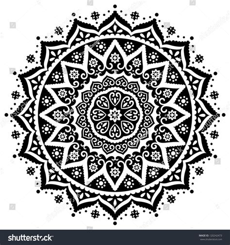 indian lace ornament stock vector 120242473 shutterstock