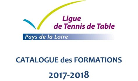tennis de table pays de loire image couverture catalogue formation tennis de table
