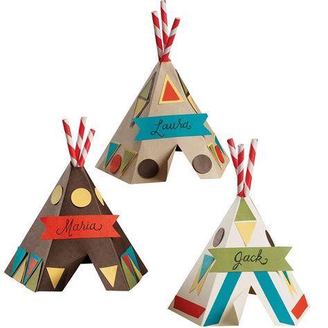teepee place card template diy funky teepee kit at paper source thanksgiving