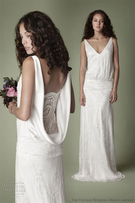 Vintage Style 1920s Wedding Dresses by The Vintage Wedding Dress Company 2013 Decades Bridal