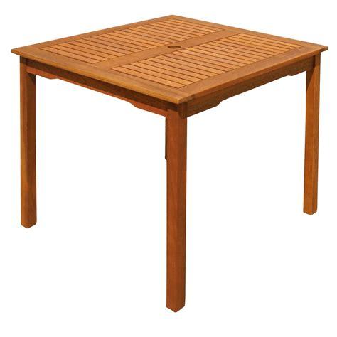 Gartentisch Quadratisch Holz by Gartentisch Terrassentisch Aus Holz Quadratisch Mit