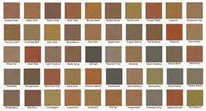 davis concrete color chart colored concrete grannas bros asphalt