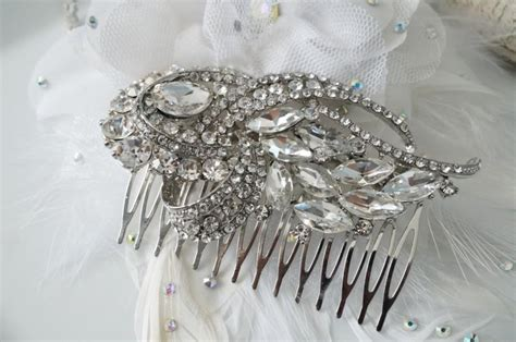Vintage Inspired Wedding Hair Accessories by Vintage Inspired Bridal Hair Comb Wedding Hair Comb