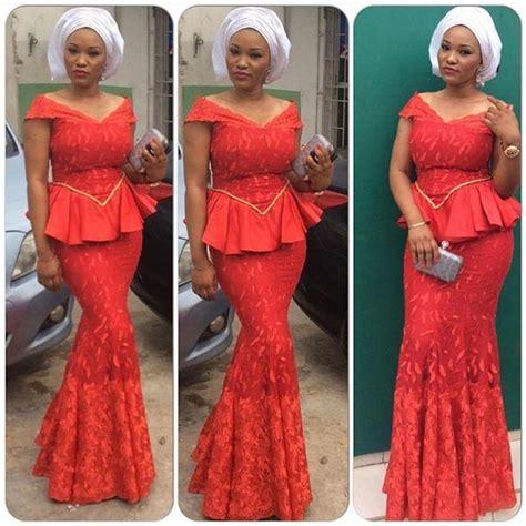 lace dress aso ebi style nigeria peplum aso ebi nigerian lace styles prom dress mermaid