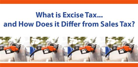 what is excise tax and how does it differ from sales tax
