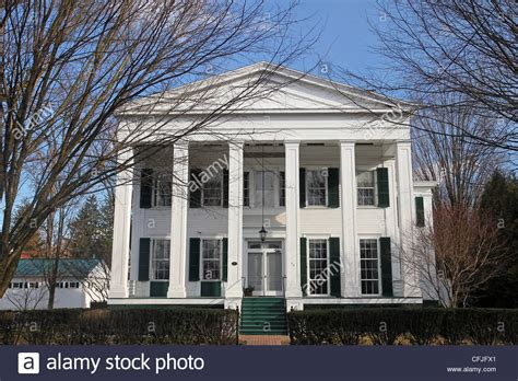 revival homes this revival style home built in 1832 is one of saratoga stock photo royalty free image