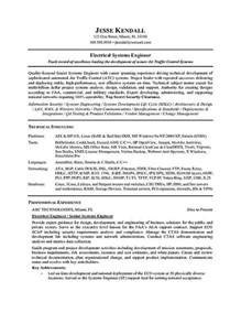 Resume Sles Electrical Engineering Electrical Engineer Resume Exle