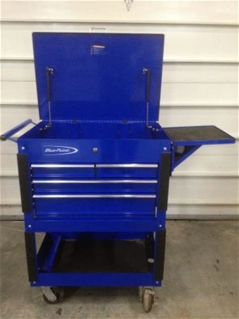 Auto Forwarding Tool by Blue Point Roll Cart Tool Box S Blue