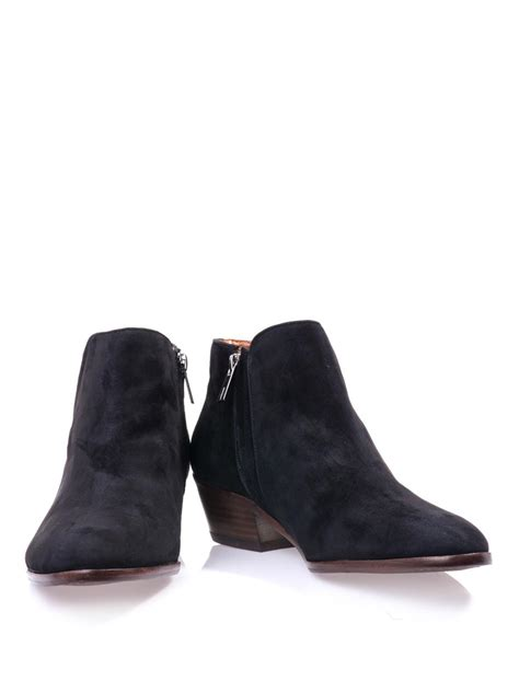 sam edelman boots sam edelman petty suede ankle boots in black lyst