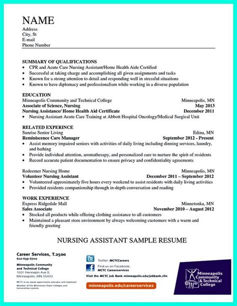 Nursing Assistant Resume Description Writing Certified Nursing Assistant Resume Is Simple If You Follow These Simple Tips Some