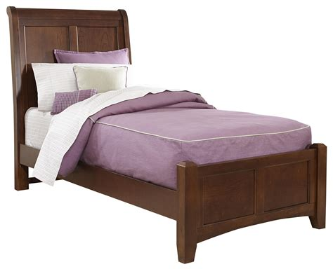 low twin bed vaughan bassett bonanza twin sleigh bed with low profile