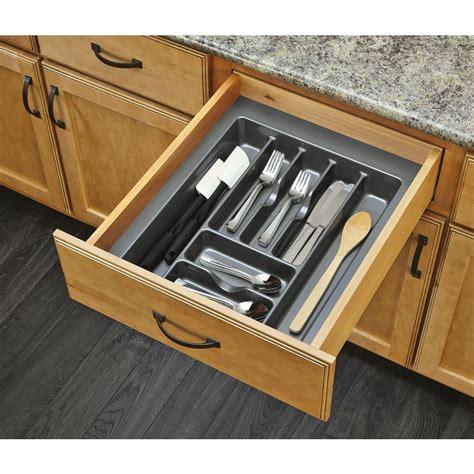 silverware drawer insert shop rev a shelf 21 25 in x 17 5 in plastic cutlery insert